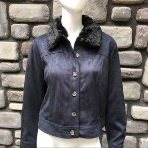 Faux Suede Jacket Lisa Rinna Collection NEW sz M